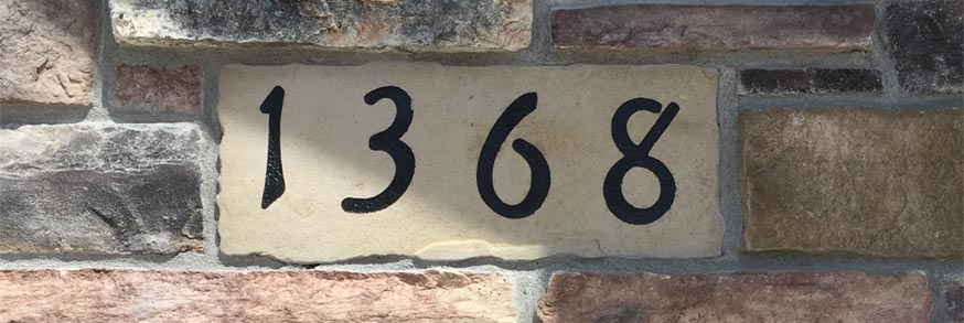 1368 Eagle Way-custom stonework address sign